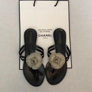 Chanel Jelly flip flops